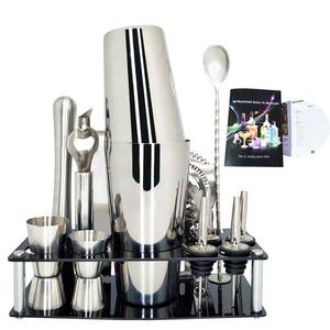 Spoon Kit-Bar Wine-Rack Shaker Ice-Tong-Tools-Set Cocktail-Shaker-Mixer Bartender Stainless-Steel