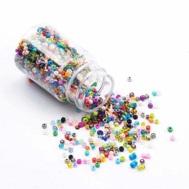 3000 шт бутилированные 2 мм стеклянные бусины, очаровательные чешские бусины, маленькие ювелирные бусины для изготовления брасле - Цвет: mixed