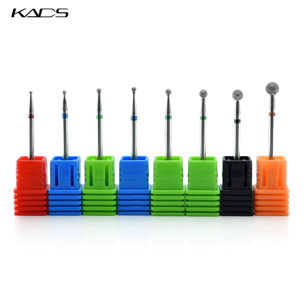 KADS Diamond Nail Drill Bits Nail Cutter Machine Nail Drill Manicure Electric Nail Art Tools Pedicure Ball-shaped Drill Bits