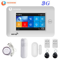 3G 433MHZ WIFI Security Alarm System app control Smart Home All Touch Screen smartlife GPRS Wireless Alarm kits