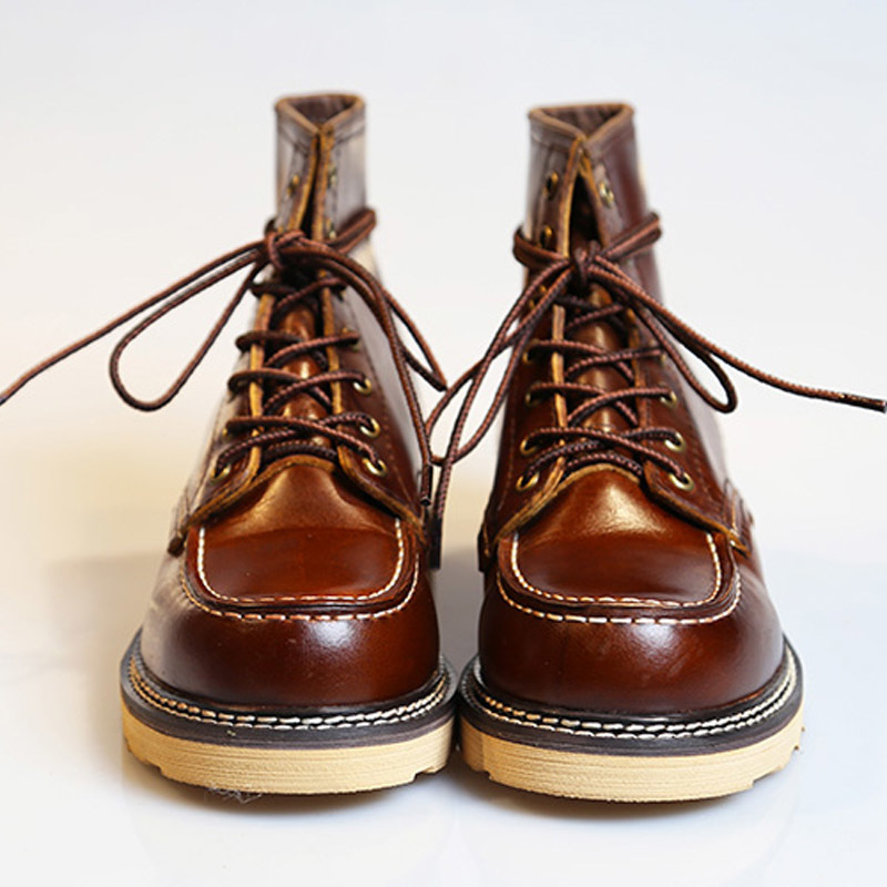 2020 New Genuine Leather Motorcycle Boots Fashion Retro Lace Up Boots High Quality Round Toe Male Casual Shoes Footwear