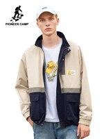 Pioneer Camp Khaki Jacket Men 2019 Autumn Outwear Casual Streetwear Zipper Bomber Jacket Male Coat AJK908180T