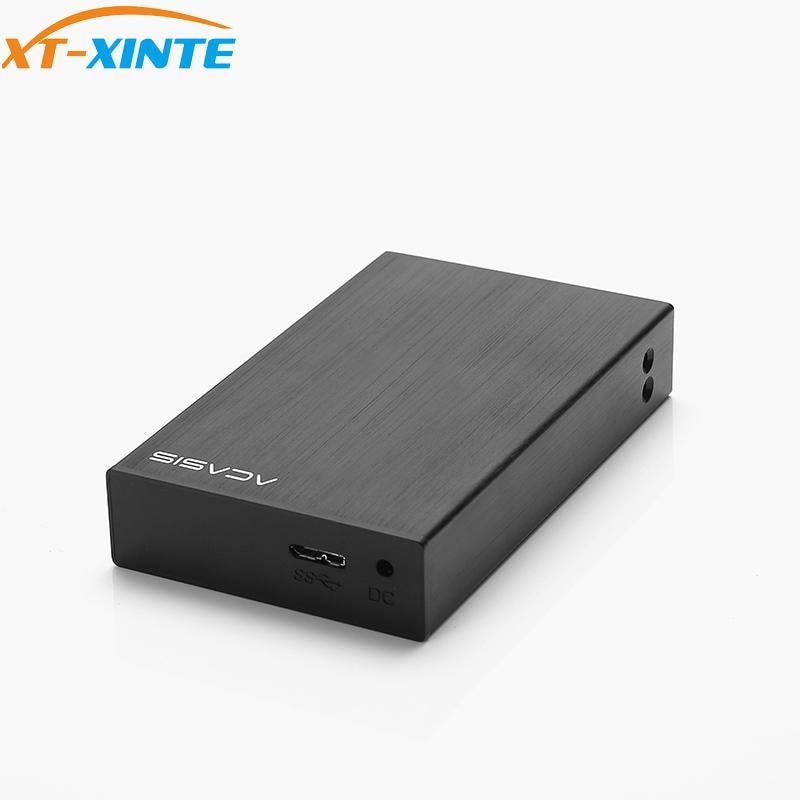 Aluminum DT-S2 2-Bay USB3.0 2.5-Inch Dual Hard Drive Disk Raid Enclosure Support 2TB HDD RAID0 / RAID1 /JBOD /SPA