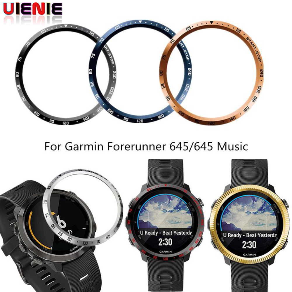 UIENIE Bezel Styling Frame For <font><b>Garmin</b></font> <font><b>Forerunner</b></font> <font><b>645</b></font> /<font><b>645</b></font> Music Smart Watch <font><b>Case</b></font> Cover protector Ring Anti Scratch Protection image