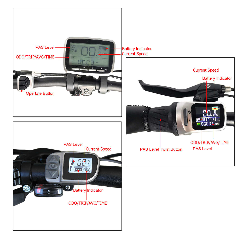 Okfeet tsdz2 Tongsheng กลางไดรฟ์มอเตอร์จักรยานจักรยาน EBike อุปกรณ์เสริม XH18 จอแสดงผล LCD