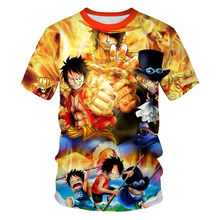 Anime Tshirt 3D Print Cartoon Funny T Shirt for Women/Men Unisex Harajuku T Shirts Summer Streetwear O-Neck Tops Tee(China)