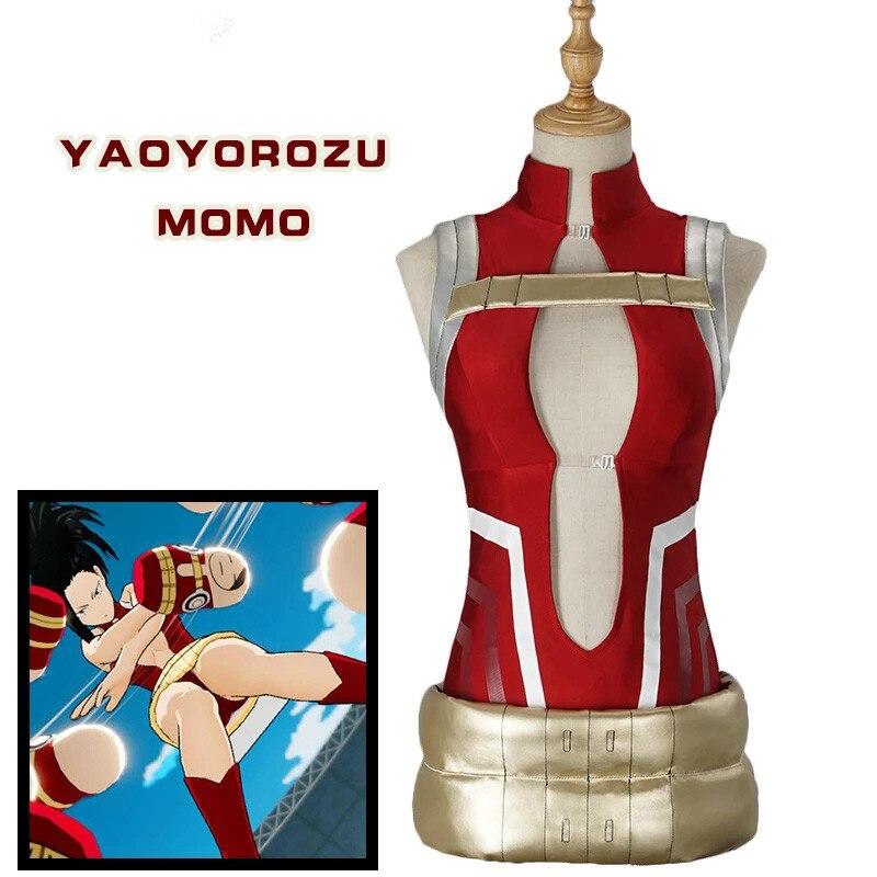 Uwowo 2019 Sexy Anime Cosplay Costume Boku No Hero Academia My Hero Academia Cosplay YAOYOROZU MOMO Cosplay Costume