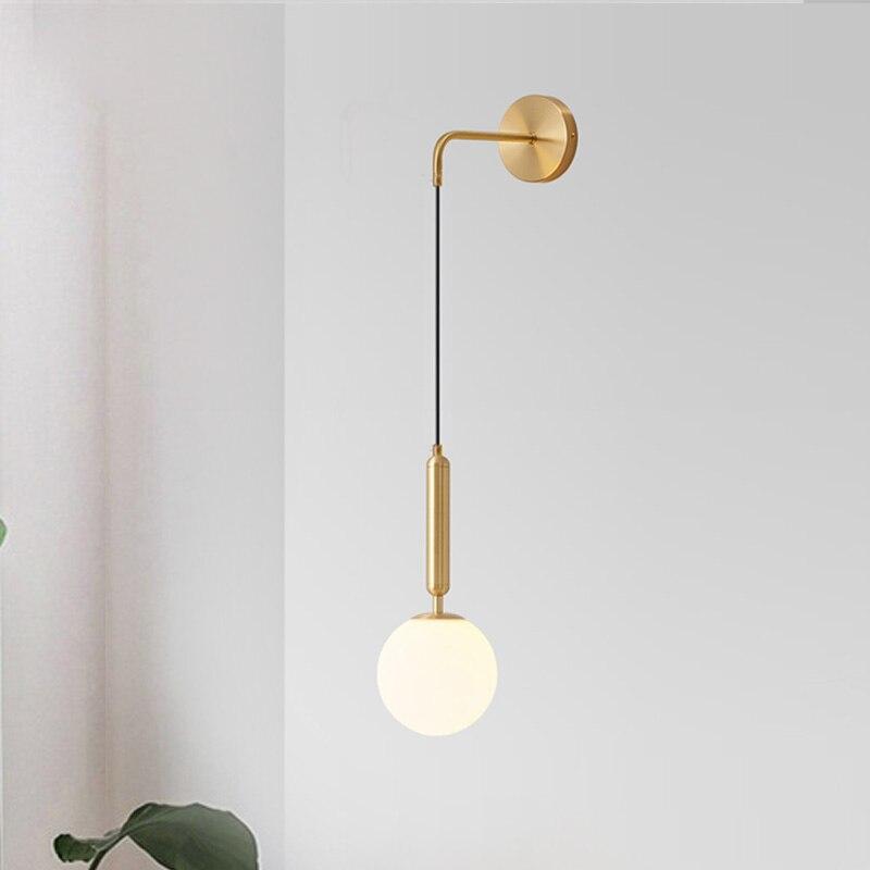 Moderne Led Glas Ball Wand Lampe Für Schlafzimmer Nacht Lesen Beleuchtung Schwarz Home Bad Leuchten Restaurant Decor Leuchte