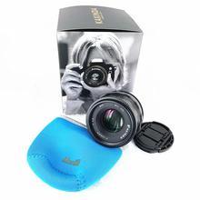 цена на Kaxinda 35mm f/1.2 Manual Prime Fuji X MFT EF-M E Mount Lens for Sony Fujifilm Olympus Canon Panasonic Mirrorless Camera 35 F1.2