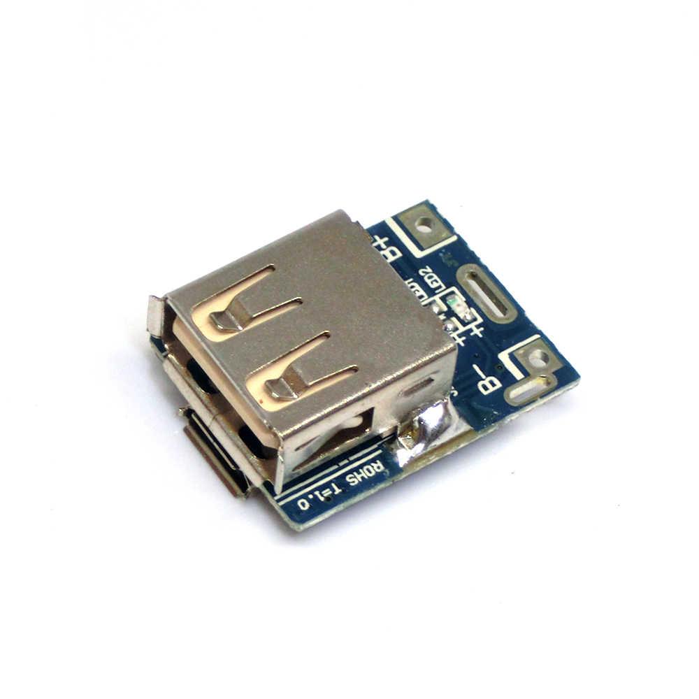 5V 1A Step Up güç kaynağı Boost dönüştürücü modülü lityum pil şarj koruma levhası LED ekran mikro USB şarj DIY