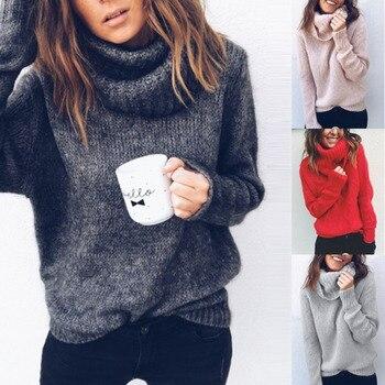 ZOGAA 2020 New winter dresses women oversized sweater  turtleneck clothes plus size