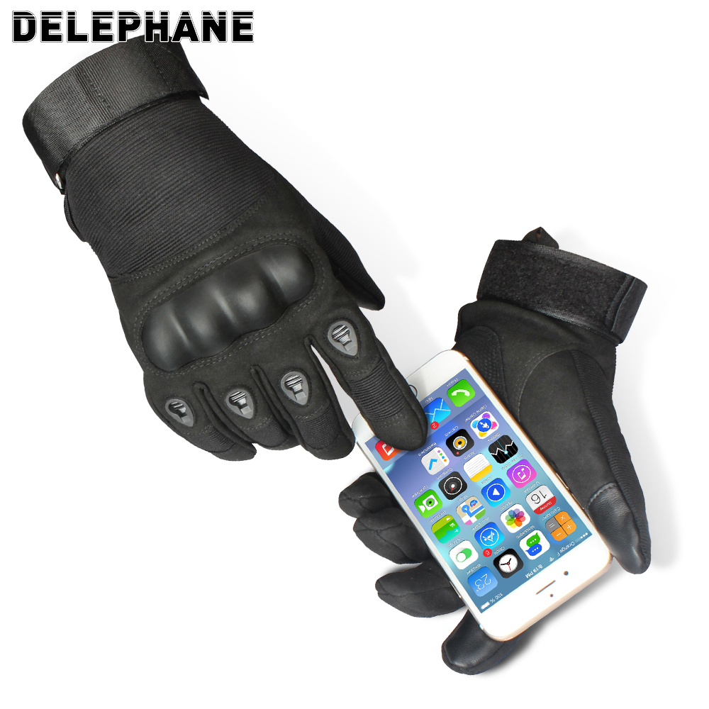 Winter Hard Knuckles Protection Tactical Gloves Military Men Full Finger Touch Screen Army Motorcycle Driving Combat Bicycle Ski