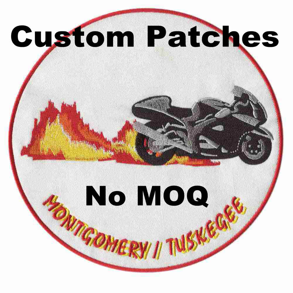 Creat Custom Motorcycle Patches Embroidery Patches For Clothing Stick-on Backing Large Patches