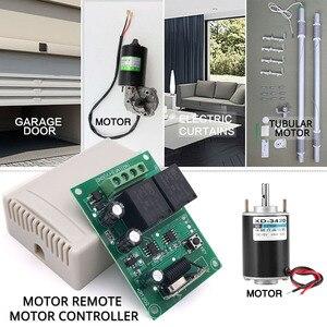 Image 2 - Afstandsbediening 433Mhz Dc 12V 2CH Rf Relais Ontvanger En Zender Voor Garage Afstandsbediening En Veranderen Motor positieve Negatieve