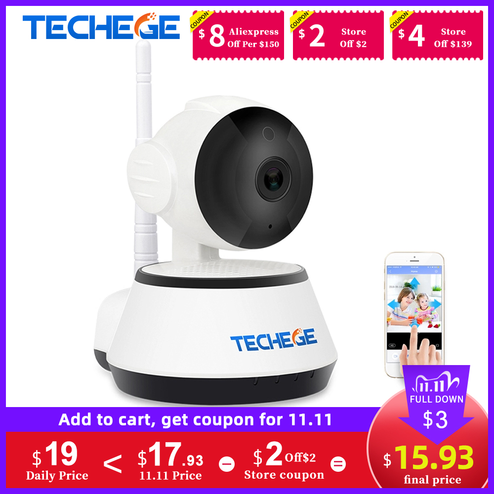 Techege 1080P HD IP Camera Wireless Wifi Wired 2MP Video Surveillance Night Vision Home Security Camera Network Indoor Yoosee
