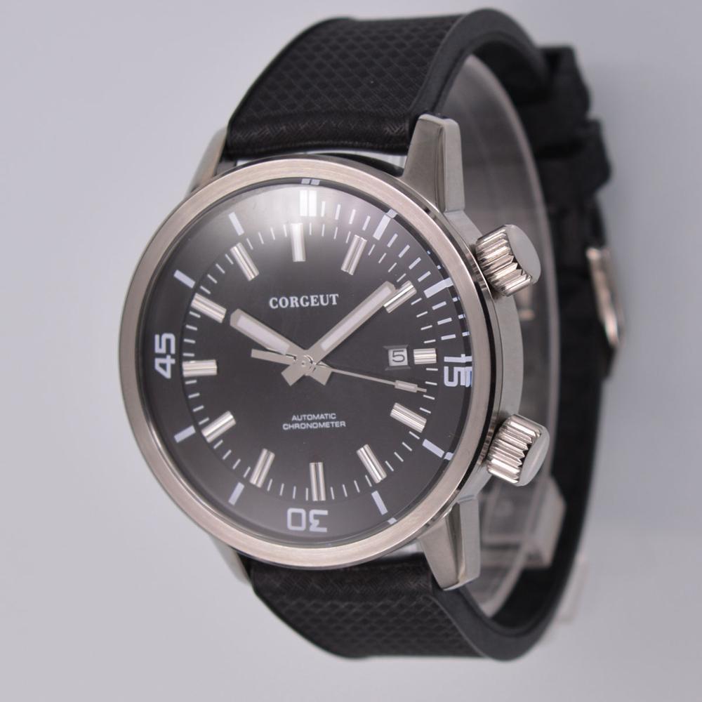 Mens Automatic Watch Luxury Brand Watch 44.5mm Stainless Steel Belt With Seagull 、miyota Luminous Mechanical  Wristwatche Men