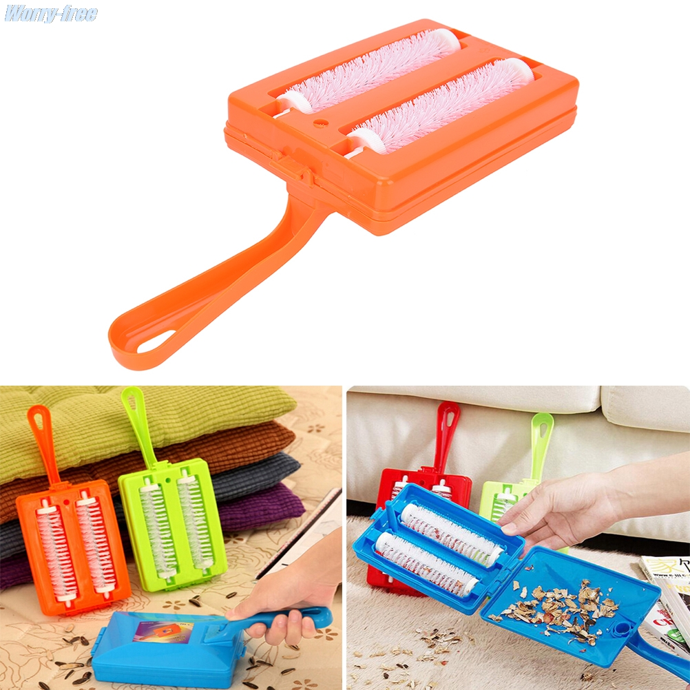 2 Brushes Heads Handheld Carpet Table Sweeper Crumb Brush Cleaner Roller Tool For Home Cleaning Brushes 1PCS Random