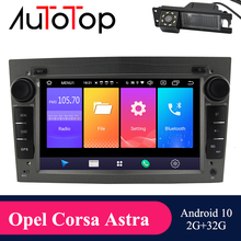 """AUTOTOP 7"""" 2din Android 10.0 Car Radio Player for Opel Vauxhall Astra H G J Vectra GPS Navigation RDS Wifi Mirrorlink BT NO DVD"""