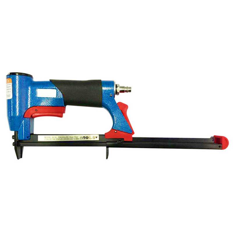 1/2 Cal pneumatyczne powietrze zszywacz gwoździarka grzywny zszywacz narzędzie do mebli niebieski gwoździarka narzędzie 4-16Mm do obróbki drewna pneumatyczne powietrze moc