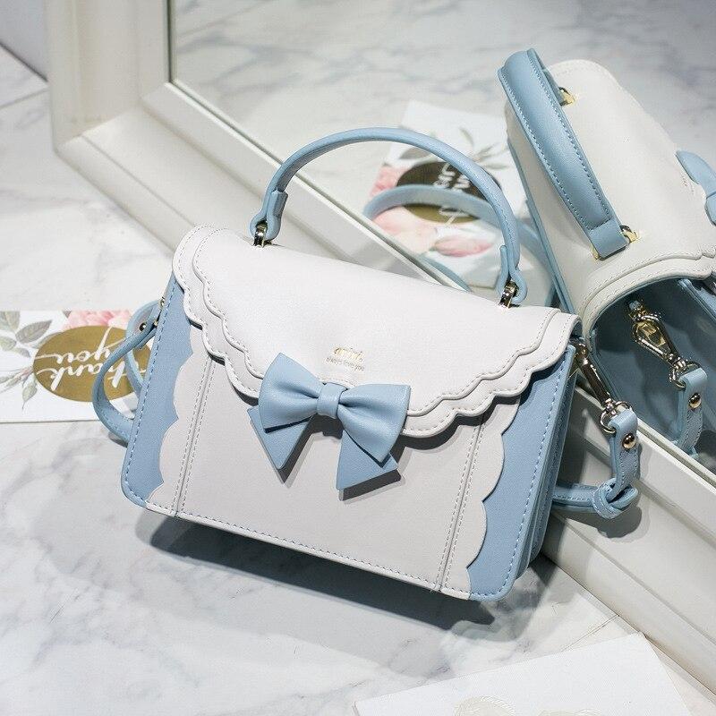 Princess Girl Lolita Satchel Bag PU Leather Tote Bag Messenger Shoulder Bag