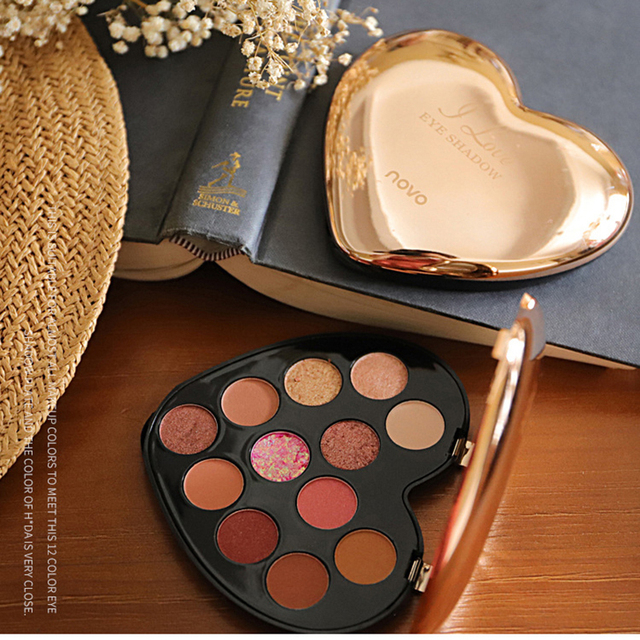 NOVO 12 Color Beauty Glazed Professional Soft Glam Matte Eyeshadow Glitter Eye Shadow Palette Long Lasting Makeup Eyeshadow 3