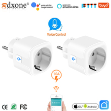 Smart Wifi Plug 16A Remote Voice Control Power Monitor Stopcontact Timing Functie Werk Met Alexa Google Home Tuya