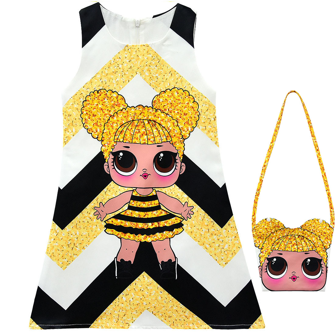 2019 Explosion Models LOl Cartoon Doll Bag Suit Dress Doll Cartoon Children A Word Skirt