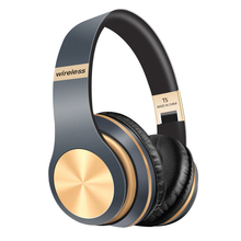 Bluetooth Headphone 5 0 3D Stereo Wireless Headphones with Mic Foldable Headset Wireless Earphone with TF card cheap BulkCarrier NONE Dynamic CN(Origin) Wireless+Wired 108dB for Video Game Common Headphone For Mobile Phone Sport Line Type