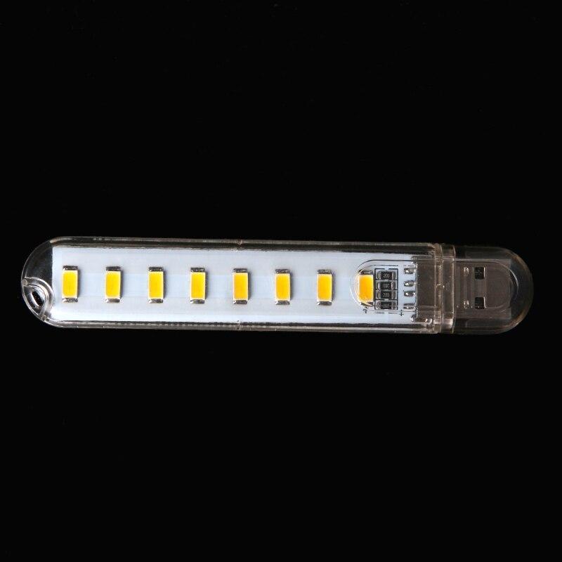 Mini Mobile Power USB LED Lamp DC5V 8 LED Computer Portable USB Gadget Lighting DXAB