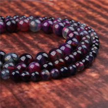 Fashion jewelry 4/6/8/10/12mm Purple Dragon Agate, suitable for making jewelry DIY bracelet necklace