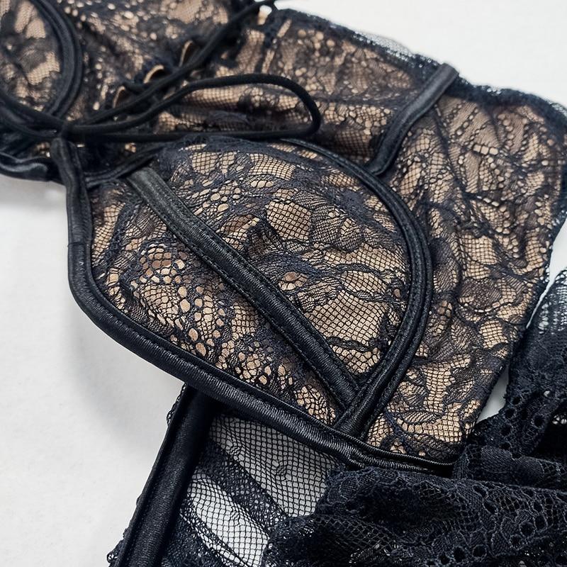 Newasia blusa de renda elástica, blusa sensual