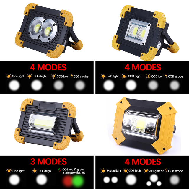 6000lm Flashlight Portable Work Light by 2*18650 Rechargeable Battery /3*AA Battery