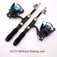 Novo portátil vara de pesca telescópica vara de pesca de fibra de vidro pólo de pesca de viagem mar fiação lightweight haste 1/1. 2/1. 5/1. 7/1. 9 m|Varas de pescar| |  -