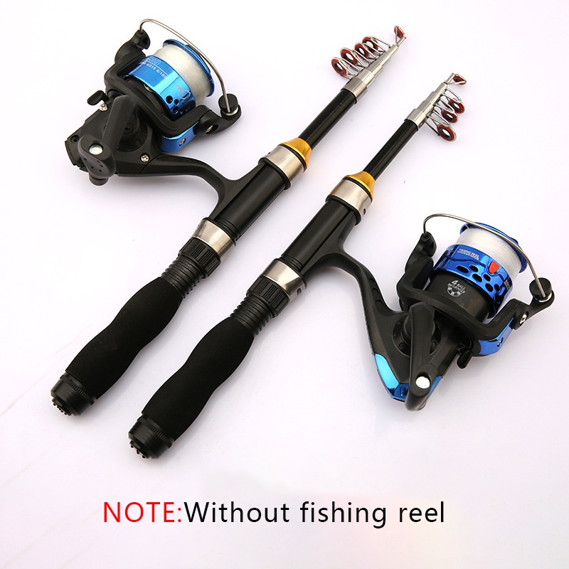 New  Portable Telescopic Fishing Rod Glass Fiber Fishing Pole Travel Sea Fishing Spinning Lighweight Rod 1/1.2/1.5/1.7/1.9M