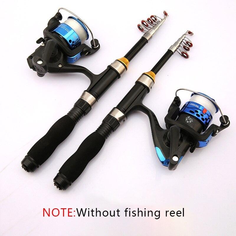 New  Portable Telescopic Fishing Rod Glass Fiber Fishing Pole Travel Sea Fishing Spinning Lighweight Rod 1/1.2/1.5/1.7/1.9M