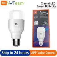 Xiaomi-bombilla LED inteligente Essential Lite, lámpara de temperatura de Color blanco, con aplicación de voz por WIFI, 9W, 16 millones de colores