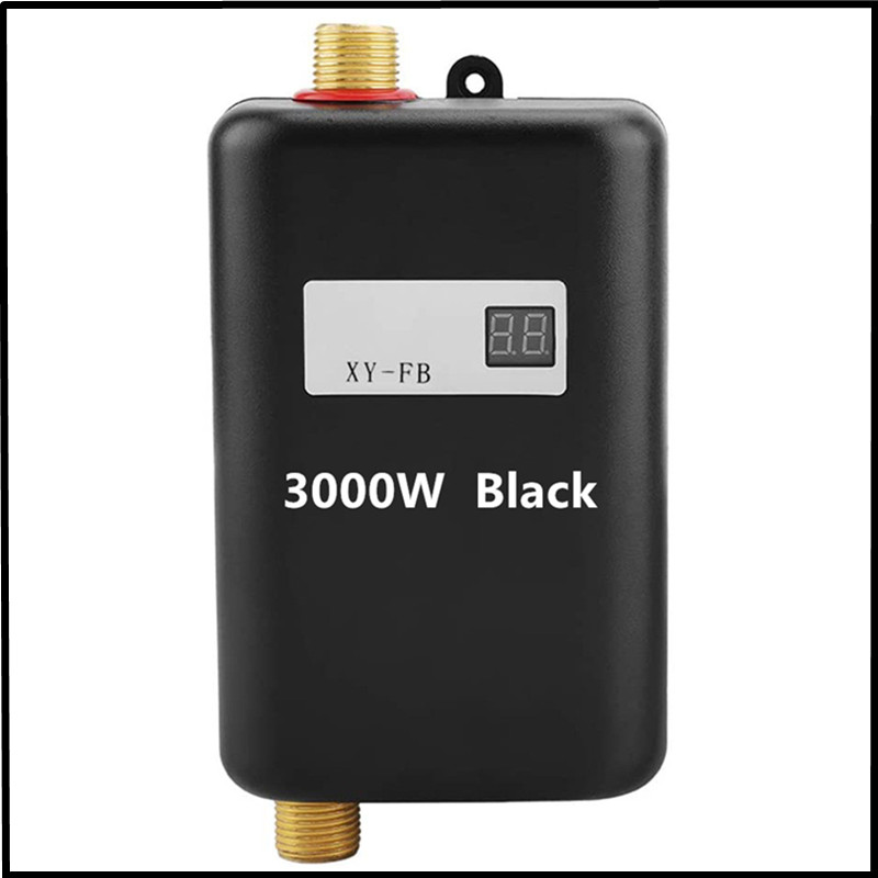 Instant Electric Water 3000W 110V Heater Tankless Water Heater Temperature Display 3s' Fast Bathroom Heating Shower Universal
