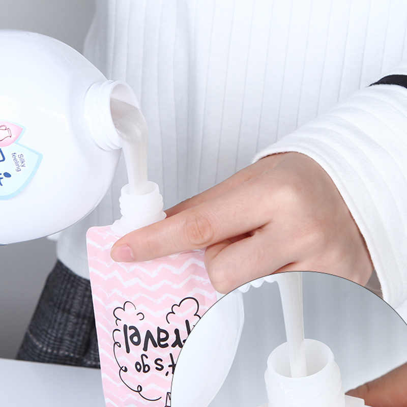 100ml Liquid Dispensing Bag Shampoo Storage Bag Candy Color Lotion Packaging Bottles Portable Travel Makeup Container