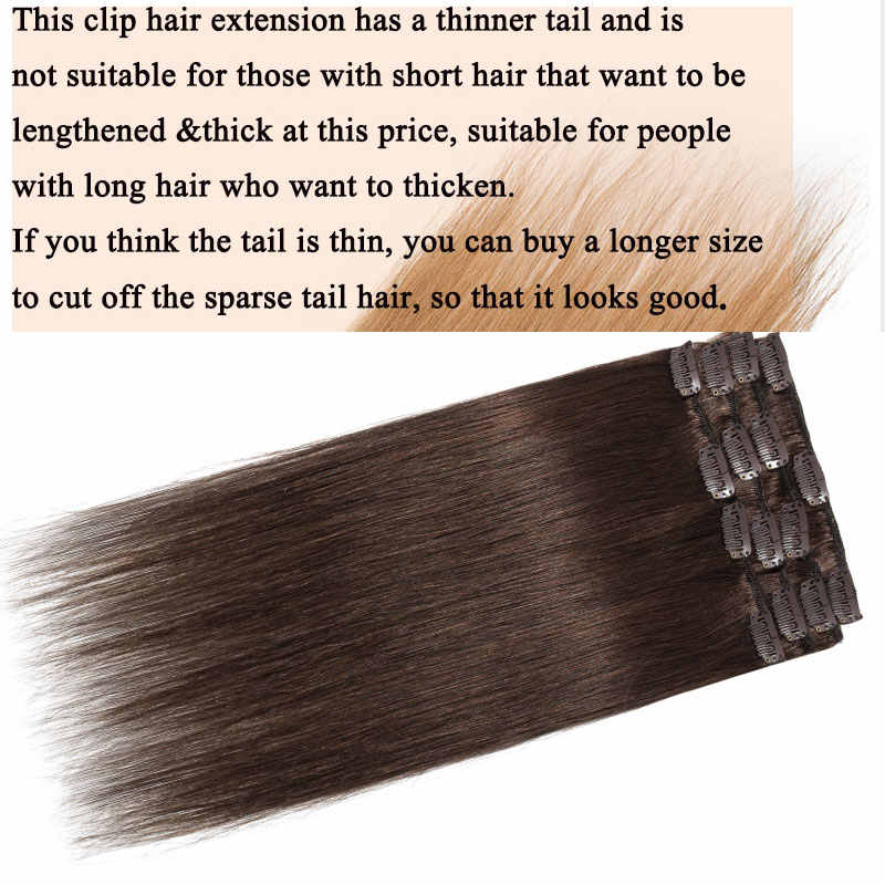 """SEGO 15 """"-22"""" 65-75g Gerade Clip in Menschliches Haar Extensions Maschine Made Remy 7 teile/satz Echt Brasilianische Natürliche Haar"""