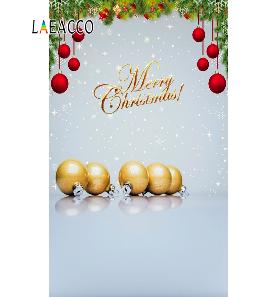 Laeacco Merry Christmas Glitter Star Pine Nuts Baby Poster Photographic Backgrounds Photography Backdrop Photocall Photo Studio