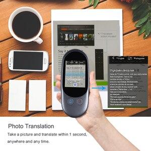 Image 2 - Портативный голосовой переводчик, Мини карманный, в режиме реального времени, многоязычный, автономный, Wi Fi, онлайн, дорожный переводчик