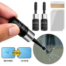 Car Windshield Repair tool DIY Window Repair Tools Windscreen Glass Scratch Crack Restore Window Screen Repair fluid 2pcs + tool