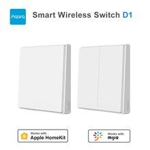 Aqara Smart Wireless Wall Switch Double Key D1 ZigBee Remote Control Light Wifi Smart Home work Mijia Gateway MiHome APP