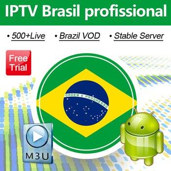 Suscripción IPTV Brasil portugués IPTV M3u 4K canales 500 + Live Vod IPTV Brasil para soporte Android prueba gratuita Brasil IP TV