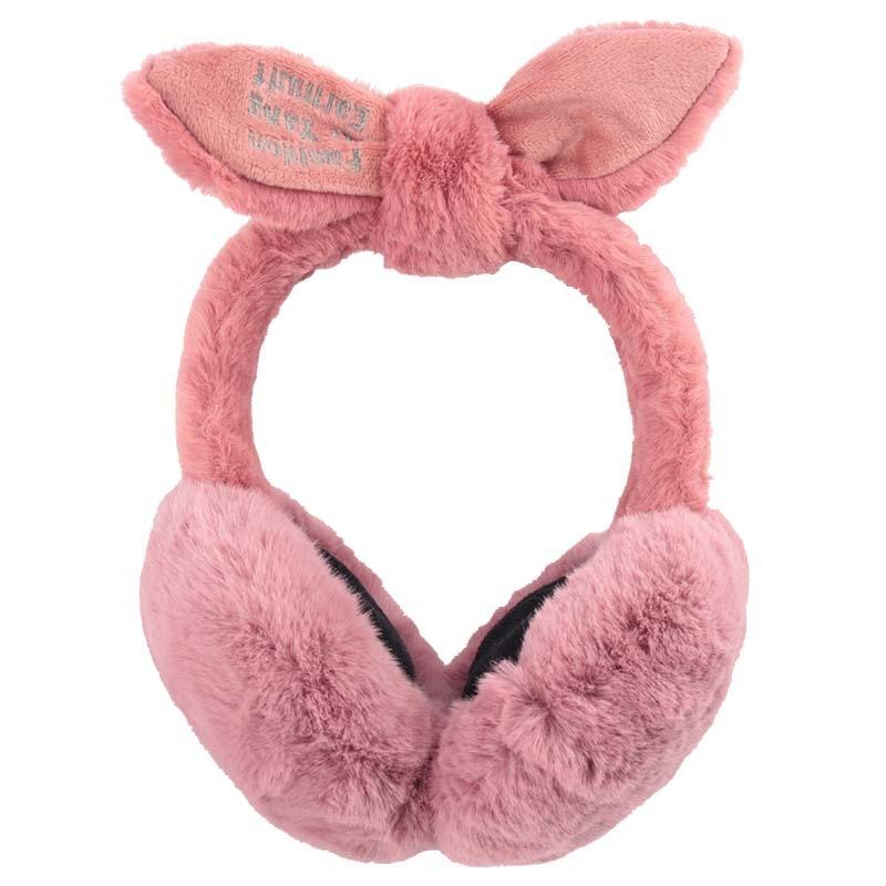 Female Cute Rabbit Ears Cartoon Warm Protection Plush Earmuffs Winter Earmuffs/Ear Muffs Winter
