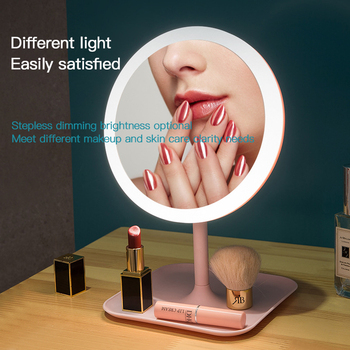Makeup mirror with led light Dressing table mirror beauty ring light mirror Beauty Tools For Photo fill light small mirrors 6