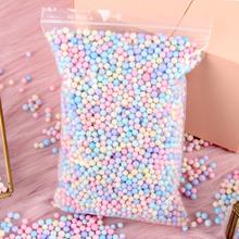 10g 30g Styro kulki piankowe pudełko napełniacz do butelek kulki piankowe DIY śnieg błoto cząstki materiał Mini koraliki piankowe do dekoracji strony tanie tanio WNYZQ LC143 S6