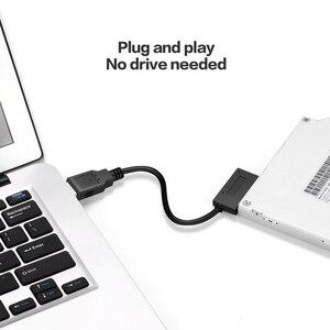 Оптический USB адаптер 6P + 7P SATA к USB2.0 cd-rom кабель 13-контактный адаптер коробка питания H