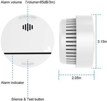 цена на Fire Alarm sensor  Home security Smoke detector allume fen 10 years battery photoelectric fire smoke detector