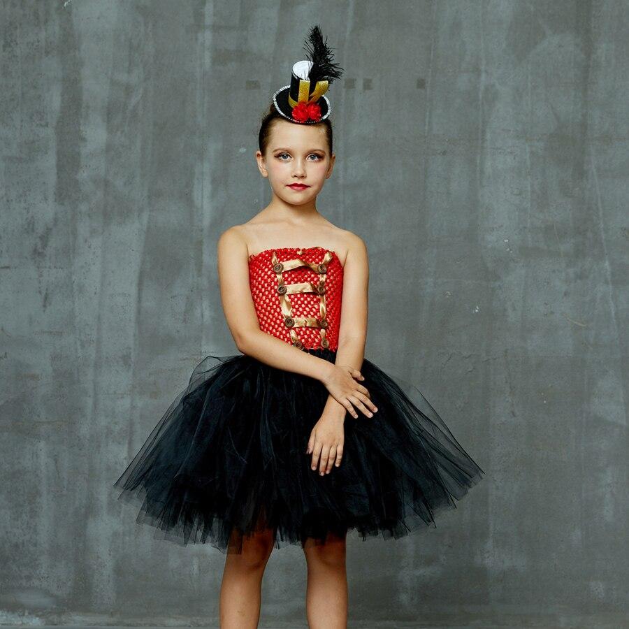 Girls Ringmaster Costume Circus Nutcracker Fancy Tutu Dress Kids Tulle Birthday Party Dress Girl Halloween Dress Up Clothes (5)